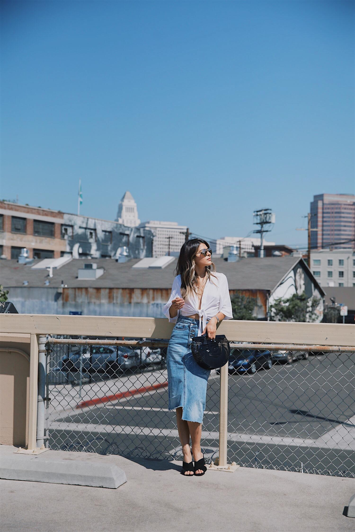 How to style a denim skirt // The Girl From Panama