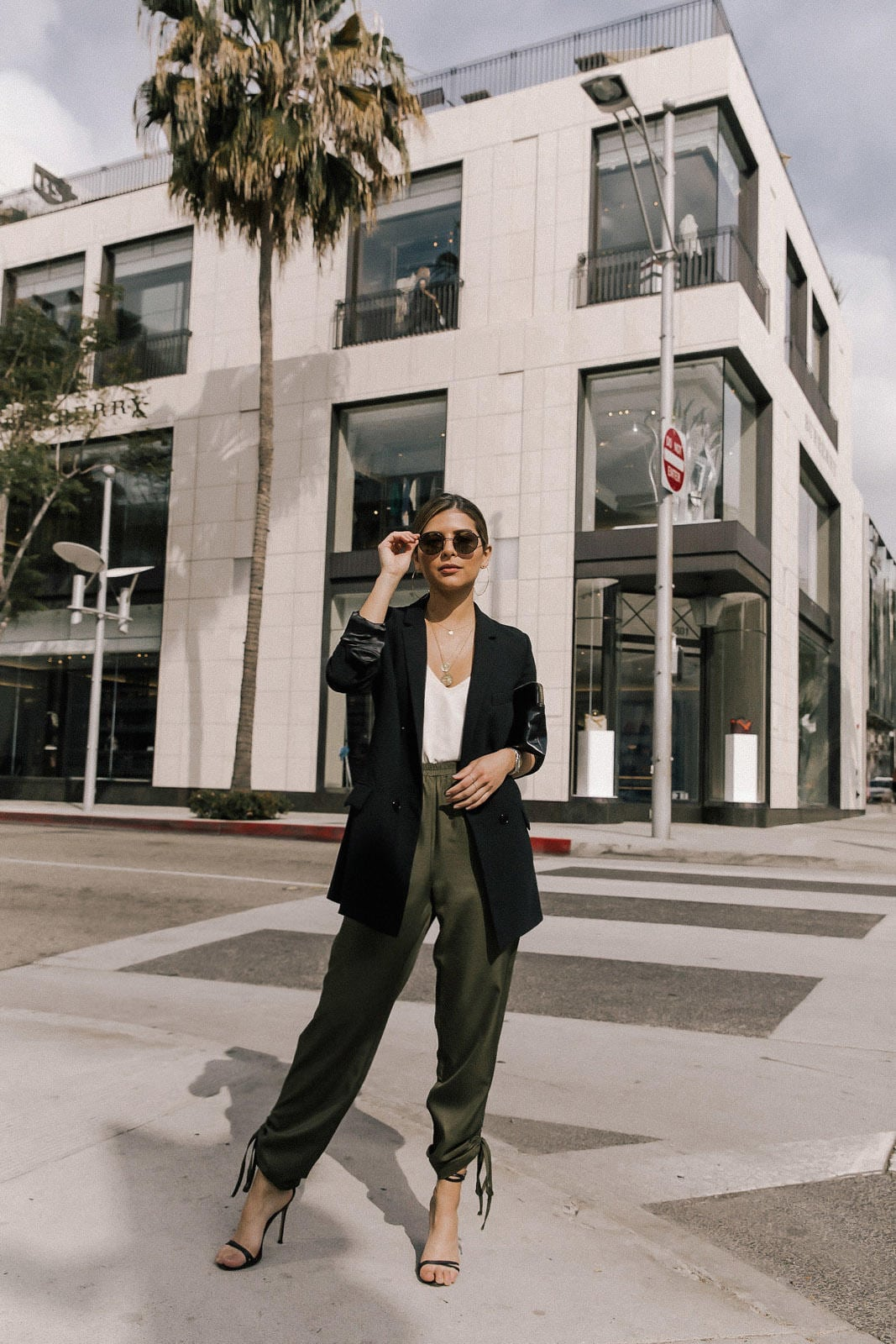 Green joggers, elegant joggers, chic style, cool girl style | TheGirlFromPanama.com