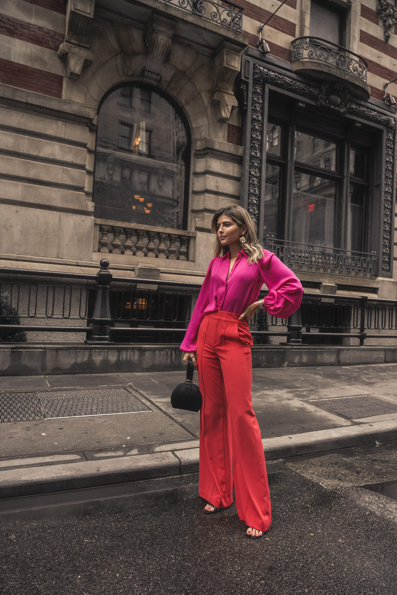 My New York Fashion Week Spring 2019 Recap by Pam Hetlinger | TheGirlFromPanama.com | Red and Pink outfit, NYFW street style, NYFW spring 2019 street style