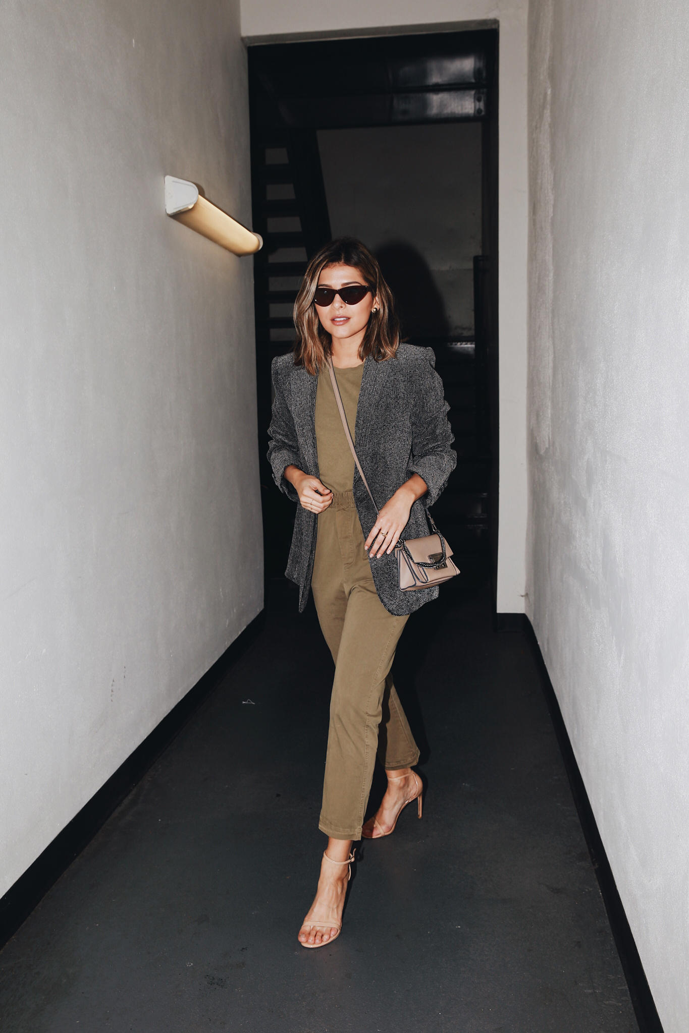 How to Wear the Cargo Pants Trend by Pam Hetlinger   TheGirlFromPanama.com   Givenchy mini bag, green cargo pants, cargo pants trend